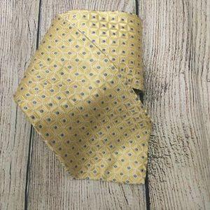 Tommy Hilfiger Men's Yellow Blue Silk Tie